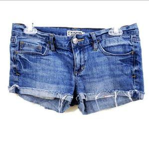 Roxy Blue Cut Off Shorts Sz 5 blue frayed